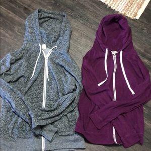 Bundle of 2 large Zine hoodies